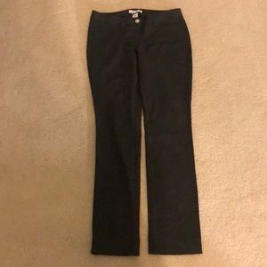 Women's Gray Slim leg pants.
